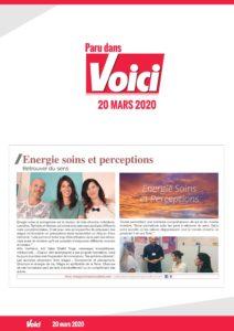 Article - Energie soins et perceptions